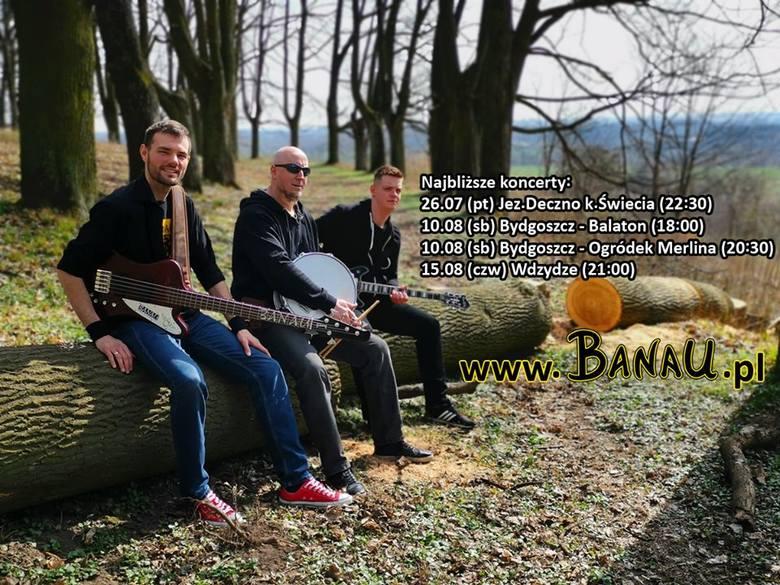 Bydgoski rockowy zespół Banau wystąpi w sobotę (10 sierpnia) nad Balatonem na osiedlu Bartodzieje, wstęp wolny