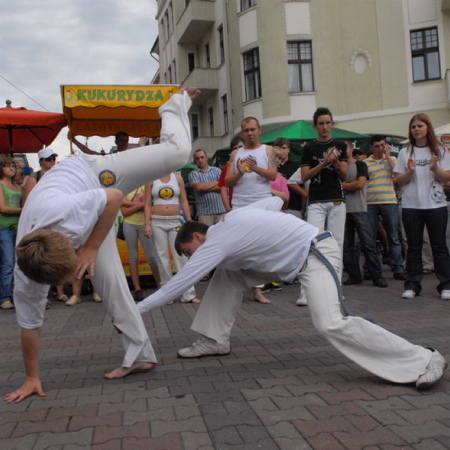 Zielonogórska Grupa Axe Capoeira zapewniłą wszystkim gościom Winobrania doskonałą zabawę.