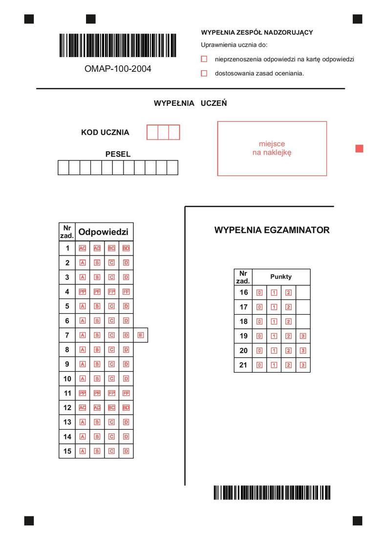 arkusz p2 matematyka odpowiedzi