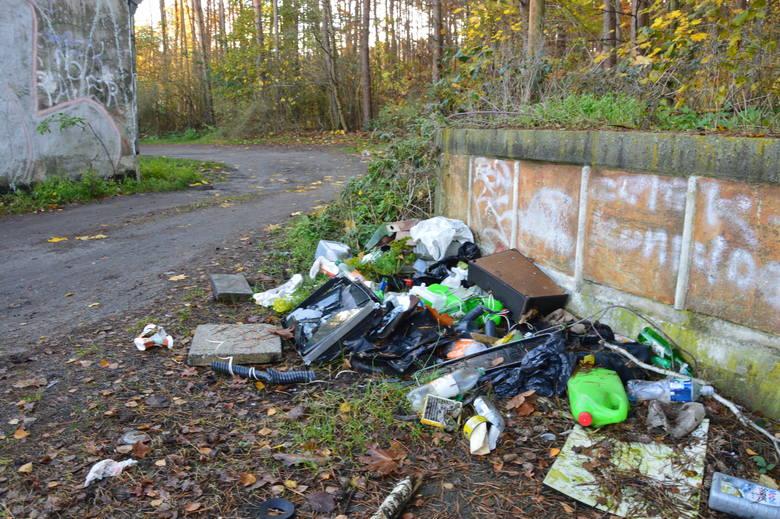 Śmieci przy garażach na ul. Zawadzkiego Zośki