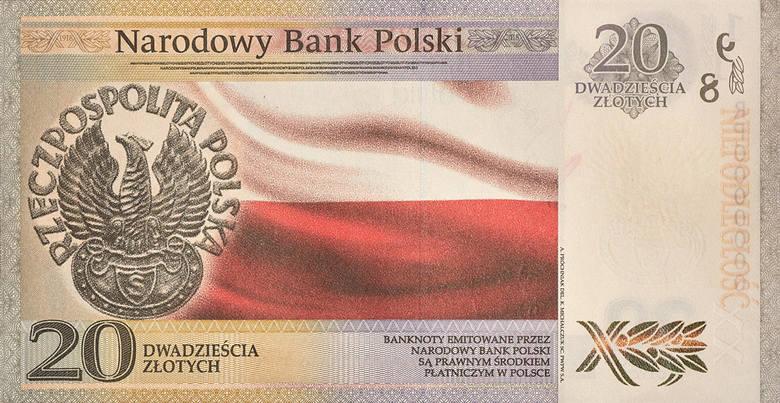 Nowy banknot o nominale 20 złotych z Piłsudskim - tak wygląda