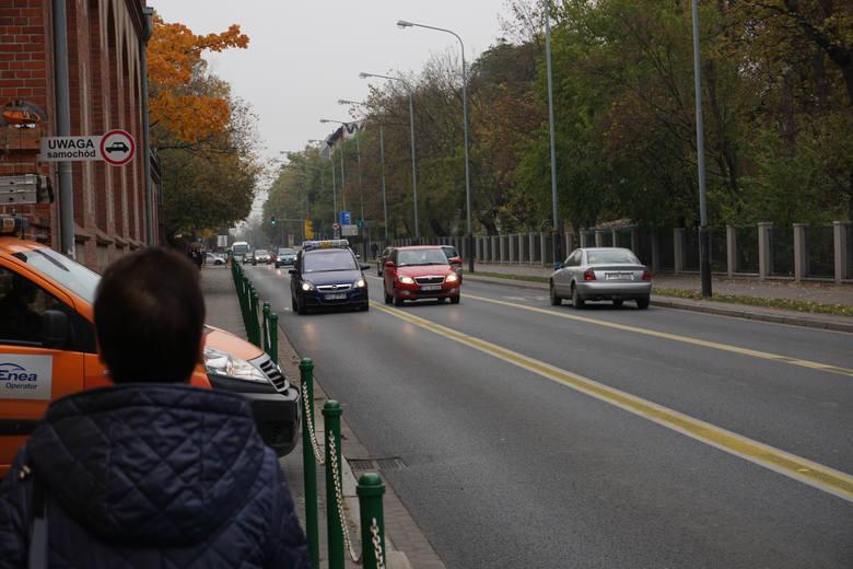 Ul.Bukowska - tu także policja odnotowuje przypadki łamania ograniczenia prędkości