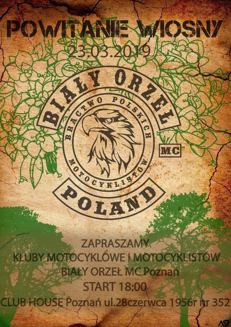 Powitanie wiosny z Białym Orłem23 marca - PoznańSzczegóły https://www.facebook.com/events/2492614287477460/