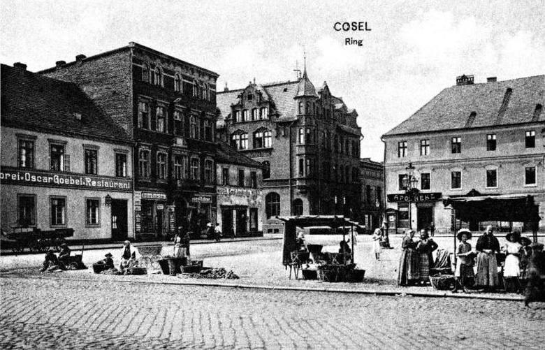 Tak przed wojną wyglądał kozielski Rynek.