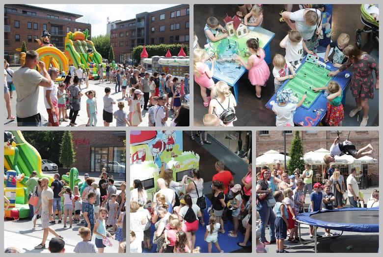 """""""Dzień Dziecka, czyli Zabawa na Całego""""  - tak nazywała się niedzielna zabawa w Centrum Handlowym Wzorcownia. Największe kolejki ustawiały się do nadmuchiwanych"""
