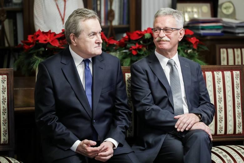 Od lewej prof. Piotr Gliński, minister kultury i Andrzej Lechowski, dyrektor Muzeum Podlaskiego w Białymstoku