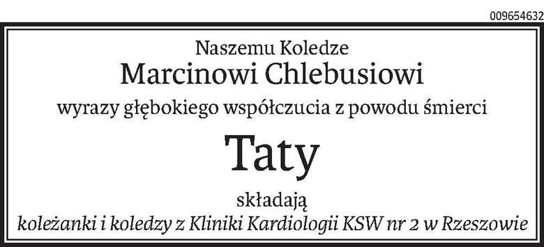 Nekrologi i Kondolencje z dnia 14 kwietnia 2020 roku