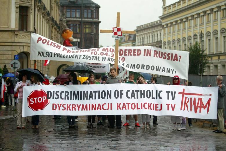 Zeszłoroczny marsz w obronie TV Trwam.