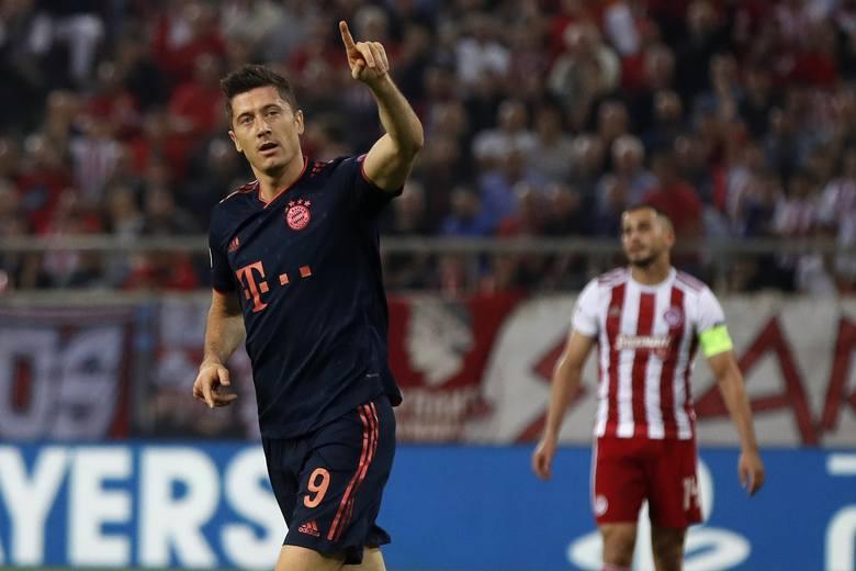 Bramka w wygranym przez Bayern Monachium 2:0 meczu z Olympiakosem Pireus sprawiły, że Robert Lewandowski umocnił się na piątym miejscu w klasyfikacji