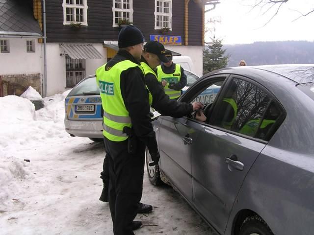 Kontrola czeskiej policji na granicy