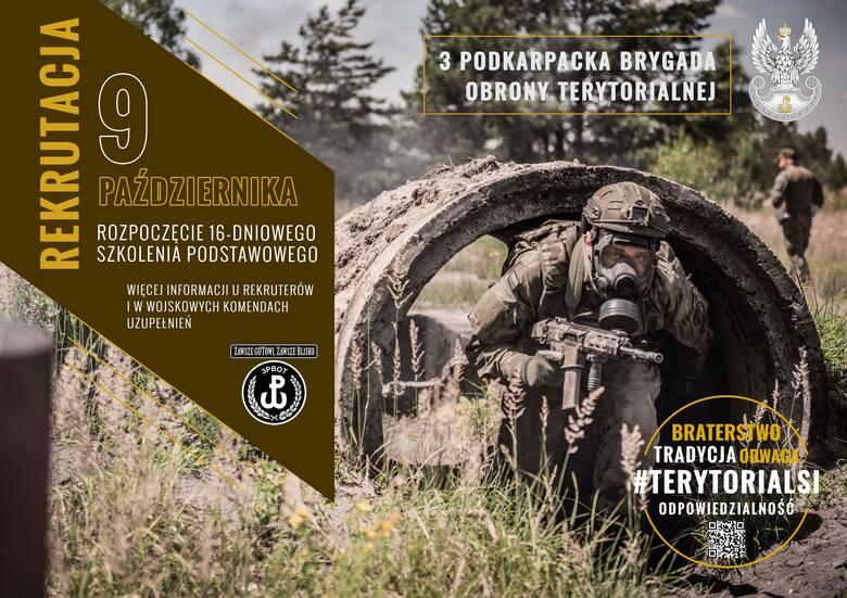 Ruszył dodatkowy nabór do Podkarpackiej Brygady Obrony Terytorialnej.