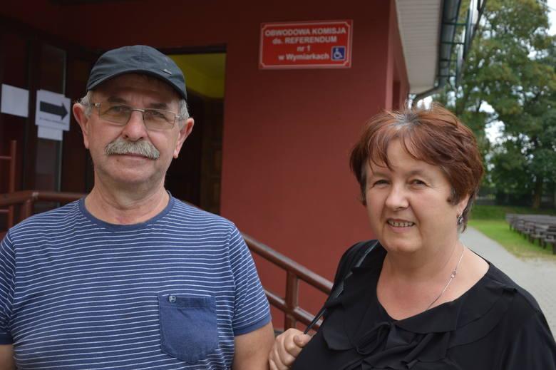 Edward Kowalów z żoną Bernardettą, Wymiarki, referendum