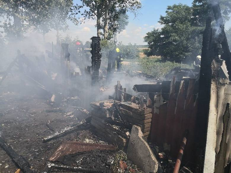 Pożar w Międzyłężu koło Pelplina 19.07.2020