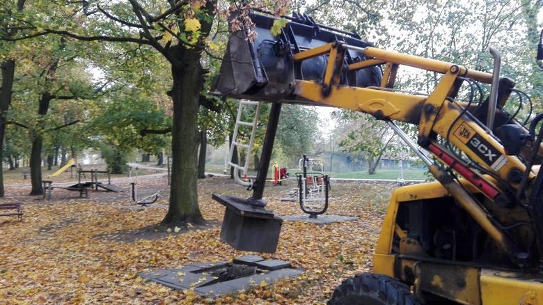 Trwa modernizacja Parku Glazja przy ul. Waryńskiego w Toruniu.  5,5-hektarowy skwer obejmuje teren od ronda przy Placu Pokoju Toruńskiego do skrzyżowania
