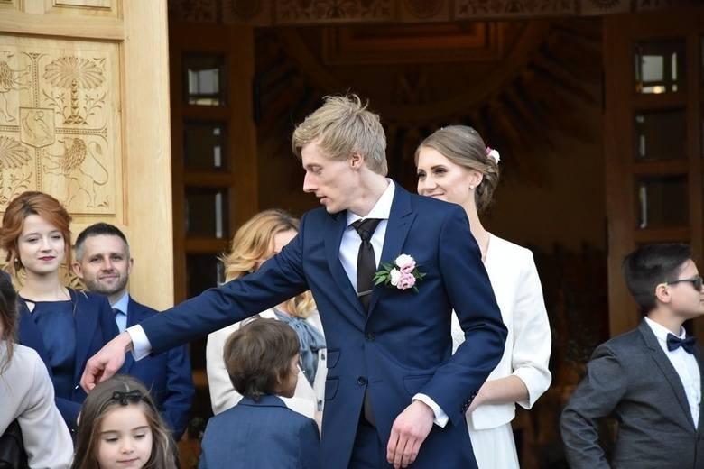 Dawid Kubacki i jego żona Marta. Para pobrała się w maju 2019 roku. Marta Kubacka (wcześniej Marta Majcher) jest Ślązaczką, pochodzi z Katowic. Podczas