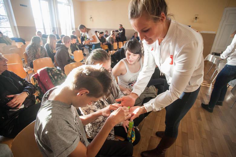 Medalistki olimpijskie z wizytą w ośrodku L.Braille'a [zdjęcia]