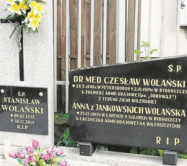 Grób rodziny Czesława Wolańskiego, lekarza Szwederowa.