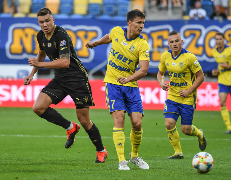 W sierpniu ubiegłego roku Arka pokonała u siebie Górnika Zabrze 1:0, a gola na wagę zwycięstwa strzelił widoczny na zdjęciu Gruzin Dawit Schirtladze.