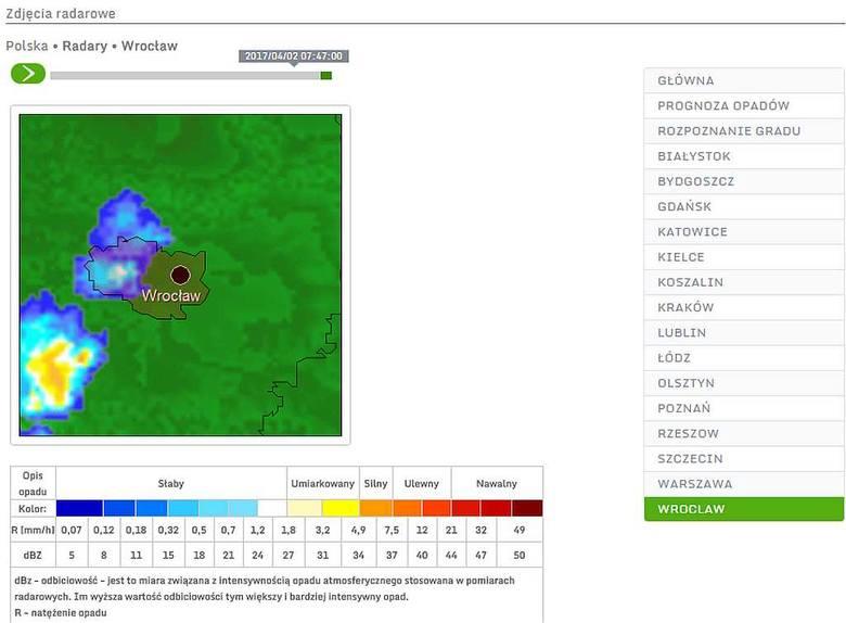 Wyładowania w okolicach Wrocławia. Czy będzie dziś burza?