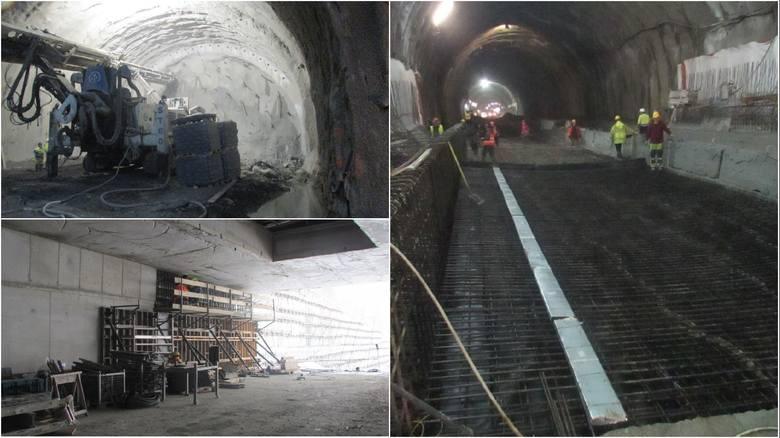 Budowa tunelu ekspresowej zakopianki. Przejdź do galerii i zobacz postęp prac.