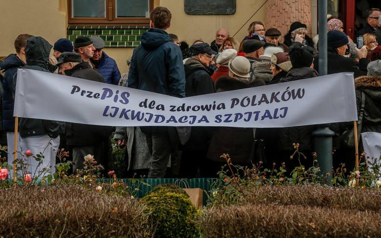 Protest w obronie szpitala reumatologicznego w Sopocie