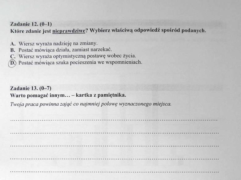 Sprawdzian Szóstoklasisty 2016 Odpowiedzi Test Gk24pl