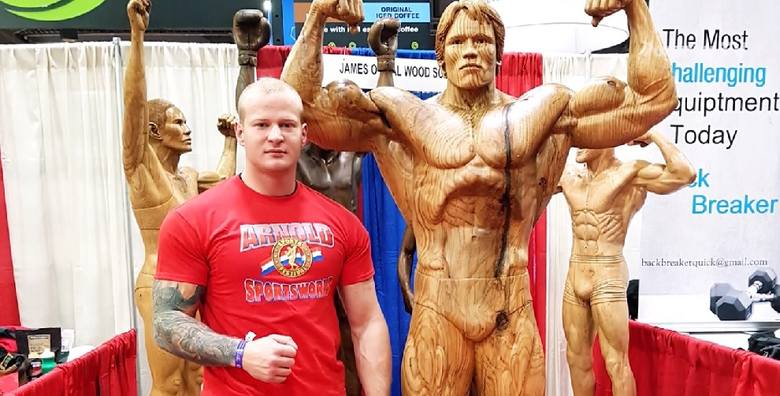Piotr Sadowski, strongman z Sobolewa, podniósł aż 333,5 kg. Gratulacje złożył mi sam Arnold Schwarzenegger [WIDEO]