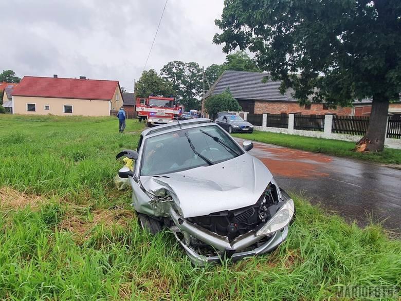 Nietrzeźwy kierowca spowodował wypadek w Kotorzu Wielkim