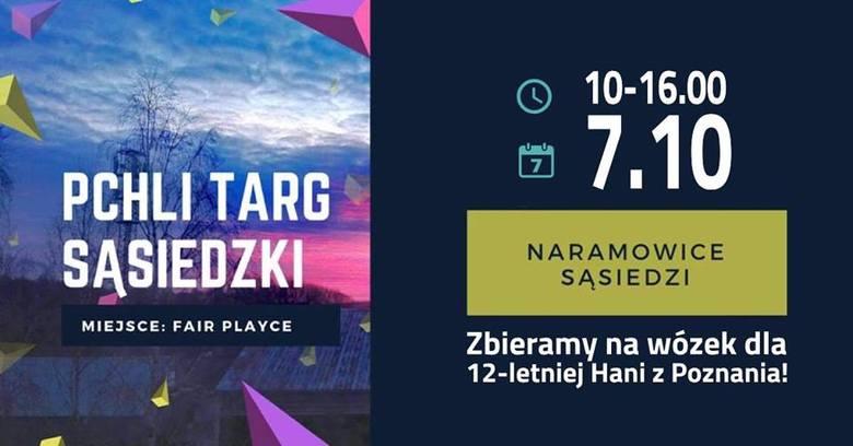 W niedzielę w Parku Rekreacyjno-Sportowym fairPlayce na Naramowicach stanie sąsiedzki pchli targ. Mieszkańcy organizują go, by pomóc 12-letniej Hani,