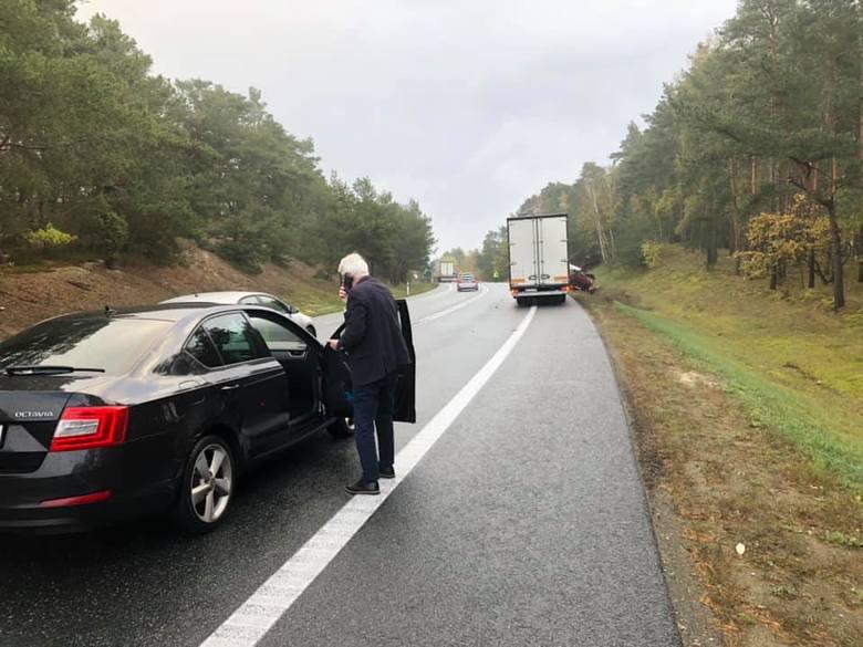 DK 10 znów groźna - wicemarszałek województwa o włos od wypadku