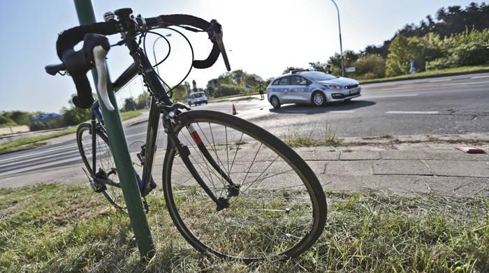 wypadek rowerzysty