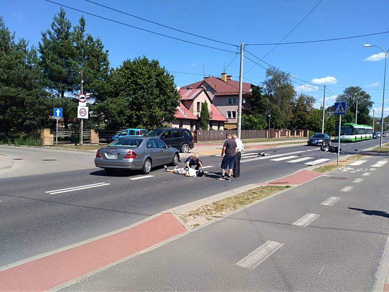 W środę, około godz. 13, na ul. 42 Pułku Piechoty w Białymstoku doszło do wypadku.