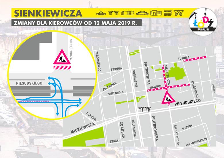 Tak ma wyglądać nowa organizacja ruchu po zamknięciu ul. Sienkiewicza.Sienkiewicza bardzo często jest zakorkowana, a od niedzieli będzie zamknięta. Kierowcy