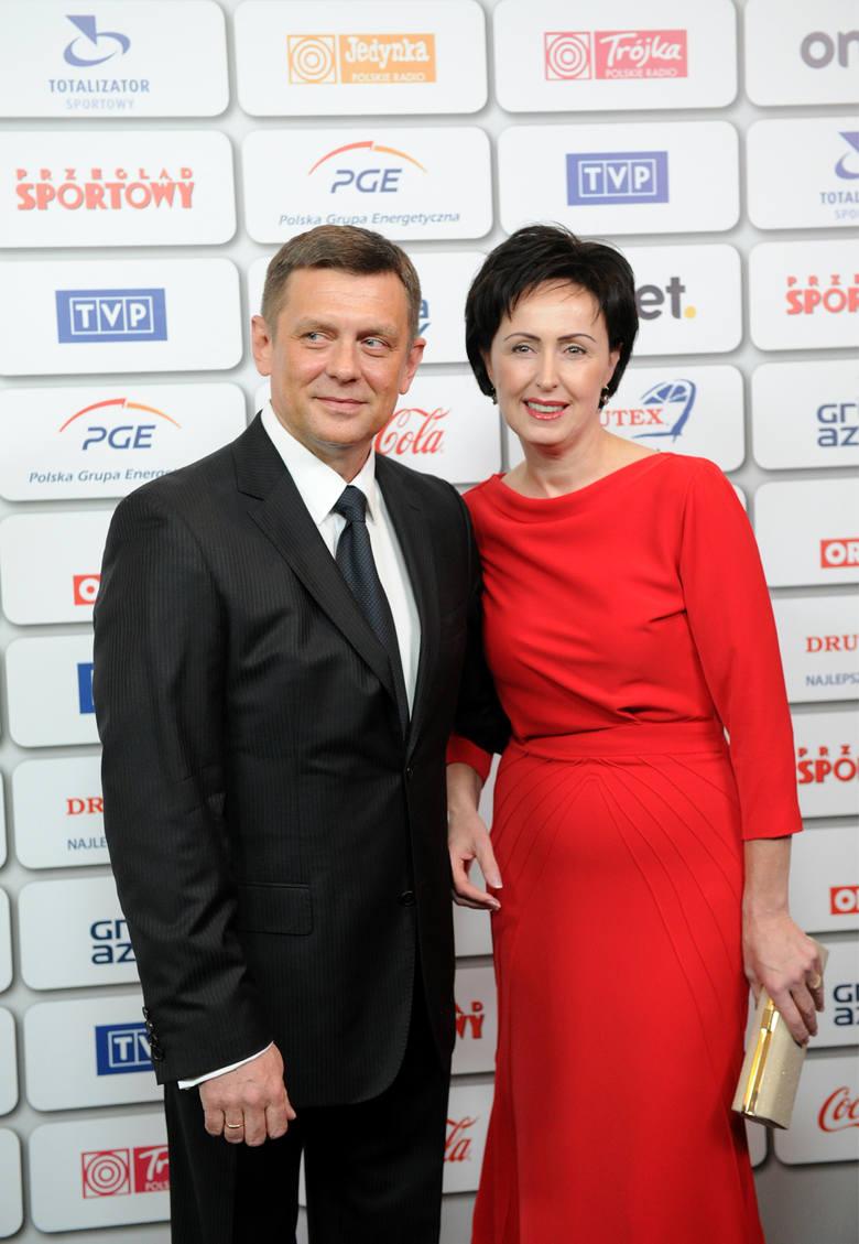 Bal Mistrzów Sportu. Na zdjęciu: Jarosław i Dorota Idzi