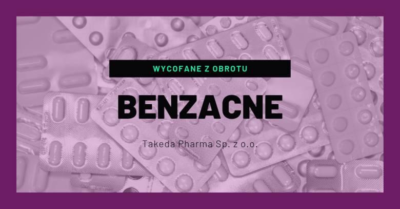 BENZACNE (Benzoylis peroxidum), 100 mg/g, żel- rodzaj decyzji: wycofane z obrotu- data ogłoszenia decyzji: 30.08.2019- seria: 410471- termin ważności:
