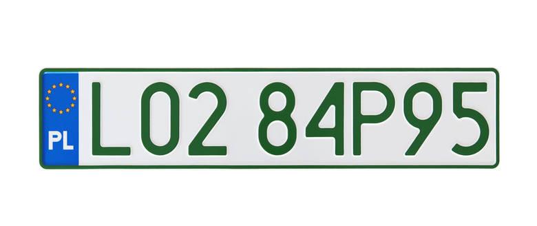 Tak wygląda nowa tablica rejestracyjna do jazdy testowej