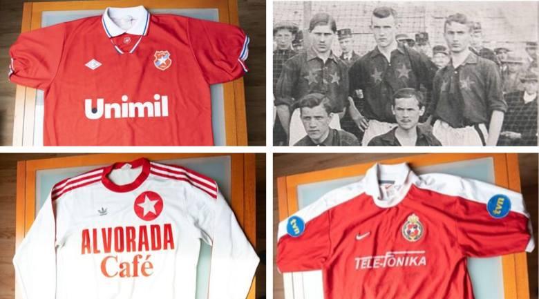 """Wisła Kraków. Koszulki """"Białej Gwiazdy"""" - zobacz jak zmieniały się przez lata [ZDJĘCIA]"""