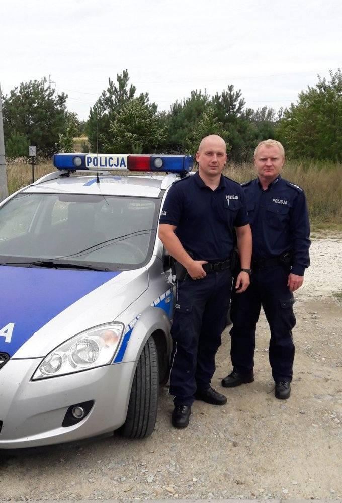 St. sierż. Adam Geres (z lewej) i asp. Tomasz Skawiński.