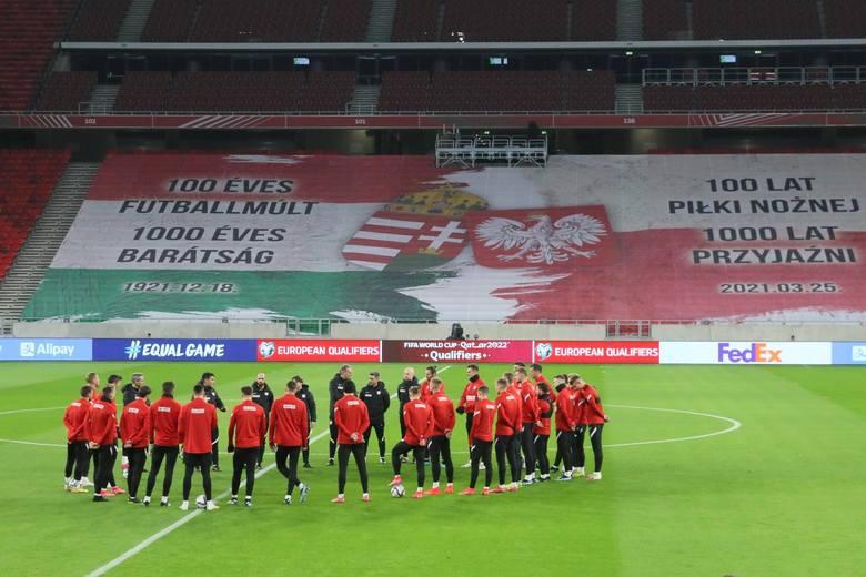 Oprawa na meczu Węgry - Polska