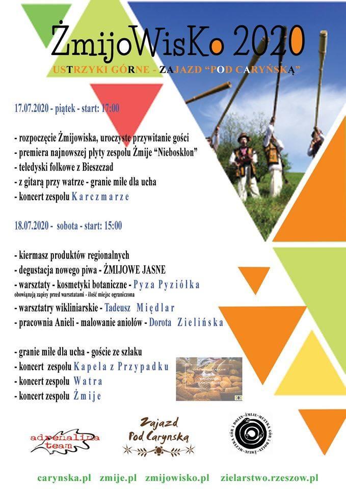 """Koncert: """"Żmijowisko"""" w Ustrzykach Górnych. Celem imprezy jest promocja Bieszczadów, zespołów muzycznych, muzyków oraz twórców ludowych"""