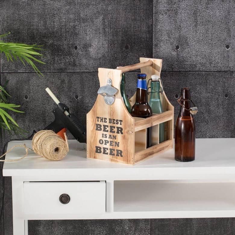 Stojak na butelki lub na wino to bardzo popularny prezent na Dzień Ojca.