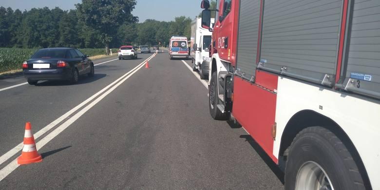 W środę rano na ul. Bohaterów Powstań Śląskich w Niemodlinie dostawczy bus wpadł do rowu