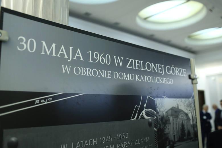 Otwarcie wystawy poświęconej Wydarzeniom Zielonogórskim 1960 roku.