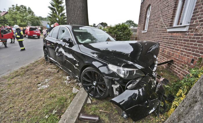 Wypadek w Bytnicy, pijany kierowca
