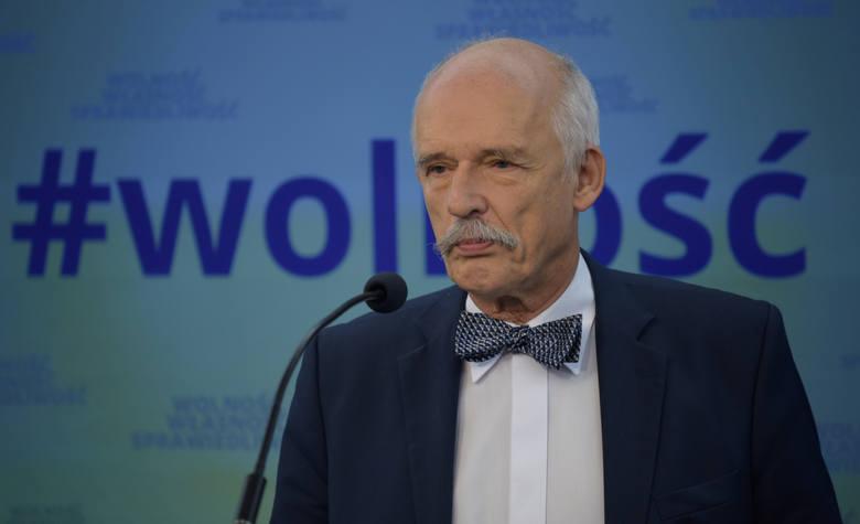 Janusz Korwin-Mikke szokuje. Co na to działaczka jego partii?