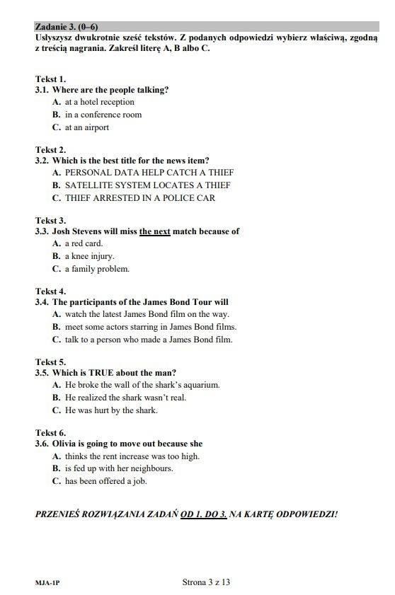 Matura z języka angielskiego. Co było na egzaminie maturalnym [JĘZYK ANGIELSKI - ARKUSZE, ODPOWIEDZI]