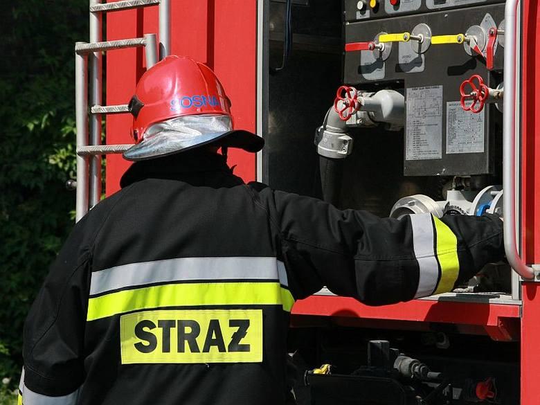 Pożar zboża w Siadczy