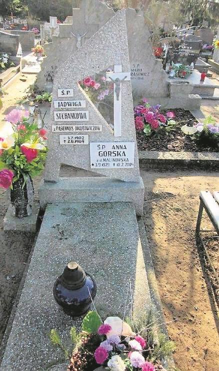 Cmentarz na Bielawkach grób Jadwigi Suchankowej i jej przyjaciółki Anny Górskiej.