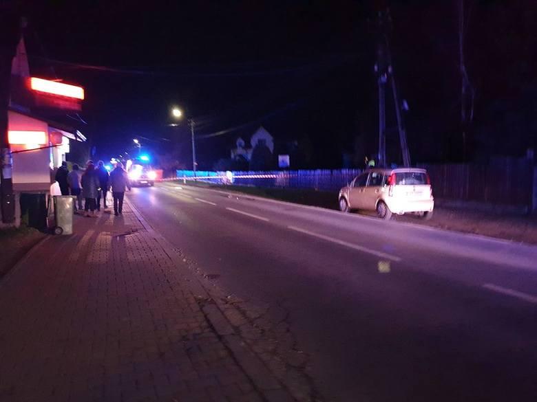 Tragiczny wypadek w Sułkowicach (pow. wadowicki) na DW 781. Nie żyje pieszy