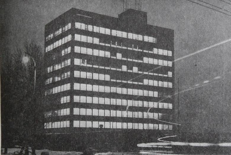 Budynek Zakładu Elektroniki Górniczej. Obecnie w trakcie rozbiórki